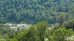 The gorge on the river Mzymta with the Tonel, Sochi, Russia. 1280x720 Stock Footage