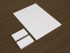 Blank document with business cards. - stock photo