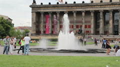 The Altes Museum (Old Museum) in Berlin, Germany Stock Footage