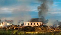 Demolish Old Buildings - stock photo