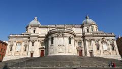 Basilica di Santa Maria Maggiore and Chapel Paolina Stock Footage
