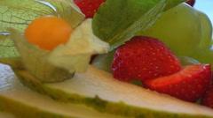 Fresh Graden Salad Close Up Stock Footage