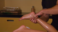 Foot Massage Stock Footage