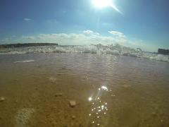 On the beach under hot sun - stock footage