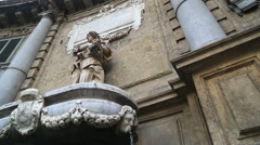 Fontana The Four Corners (Quattro Canti) Piazza vigliena Stock Footage