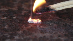 Burning magnesium turnings Stock Footage