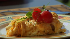 A Close Shot Of Omelette Stock Footage