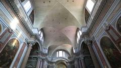 Interior Santa Maria degli Angeli e dei Martiri Stock Footage