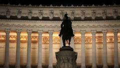 Vittorio Emanuele Monument Stock Footage