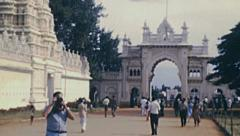 India 1982: european tourists visiting the Country Stock Footage