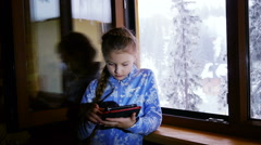 Stock Video Footage of Young girl using her tablet