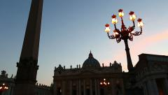 Vatican City View Stock Footage