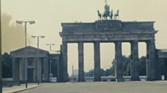 East Berlin 1982: Brandenburg gate Stock Footage