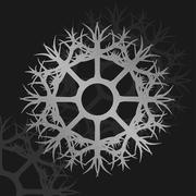 Illustration of silver wheel metallic ornament - stock illustration