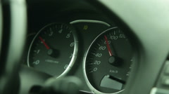 the dashboard of the car in motion - stock footage