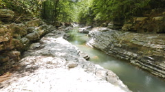 River Canyon Psakho, Sochi, Russia. 4K Stock Footage