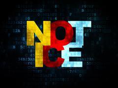 Law concept: Notice on Digital background Stock Illustration