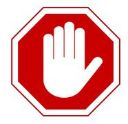 stop hand sign - stock illustration
