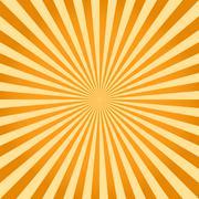 Sunburst, ray retro background Stock Illustration