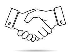 Handshake vector icon Stock Illustration