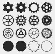 Vector gear silhouettes Stock Illustration