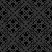 seamless ornament pattern -  vector - stock illustration