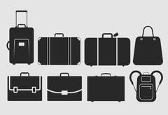 Stock Illustration of vector bag icons set