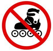 No roller skate. Vector illustration - stock illustration
