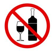 No drinking sign, no alcohol. Vector illustration - stock illustration