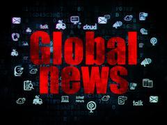 News concept: Global News on Digital background Stock Illustration