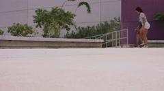 Friends enjoying skateboarding Stock Footage