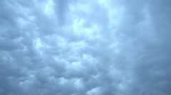 Rain clouds moving quickly in fast motion Stock Footage