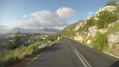 POV driving on the Cape Peninsula in Cape Town Stock Footage