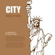 statue of liberty - stock illustration