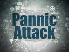 Stock Illustration of Healthcare concept: Pannic Attack on Digital Paper background