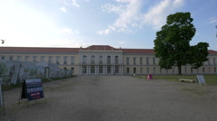 Great view of Schloss Charlottenburg Neuer Flügel, in Berlin Stock Footage