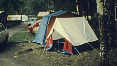 Belgium 1970s: camping Arkistovideo