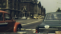 Brussel 1970s: life in the streets Stock Footage