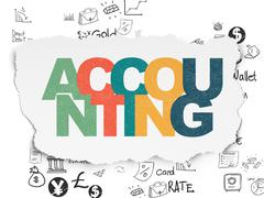 Banking concept: Accounting on Torn Paper background - stock illustration