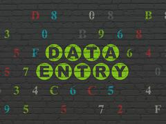 Stock Illustration of Data concept: Data Entry on wall background