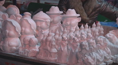 Clay sculptures, New Year in Ho Chi Minh City, North Vietnam Stock Footage
