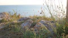 Stock Video Footage of Rocky coast of Sea of Azov