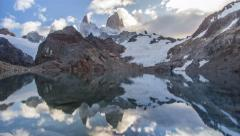 Stock Video Footage of Mount Fitz Roy 01 Time Lapse (Patagonia, Argentina)
