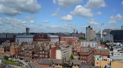 Leeds city centre skyline united kingdom Stock Footage