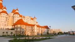 Hotel Bogatyr. Sochi-Park  Adler, Russia. 4K Stock Footage