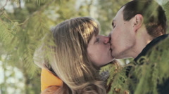 Stock Video Footage of Funny couple laughing and kiss