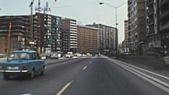 Barcelona 1973: driving in the street of the city - stock footage