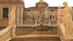 Piazza Pretoria or Piazza della Vergogna, Palermo, Sicily, Italy 8 Stock Footage