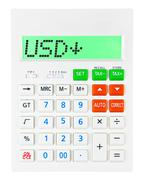 Calculator with USD - stock photo