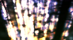 Fast Moving Bokeh Orb Particle Strands - stock footage